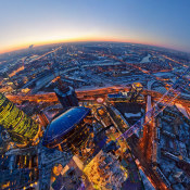 Panoramic Sky View of Moscow City…