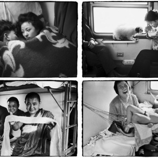 "Interesting ""China in the Train"" by Wang Fuchun"