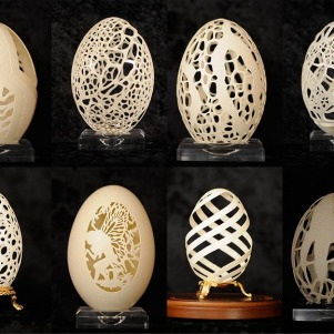 Eggshell Carvings by Beth Bryan, A Delicate Art