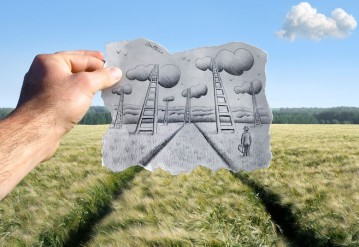Pencil vs Camera by Ben Heine with the Drawing