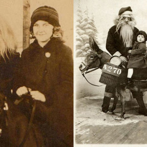 Creepy and Scary Santa Claus From Past – Photography