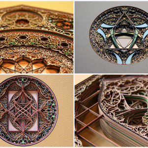 Delicate Stained Glass Windows of Cardboard …