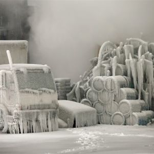 Ice Sculptures After a Fire – Chicago
