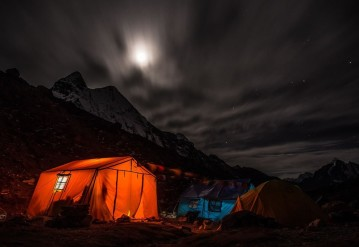 Tent Under the Sky, Night and Beautiful Stars