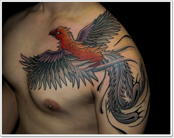 Gentlemen This Time Your Phoenix Tattoo Designs.. (40)