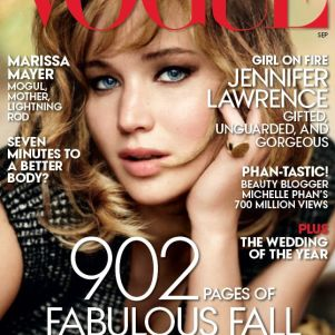 Jennifer Lawrence in 'Vogue' Pictures With Cute Dogs
