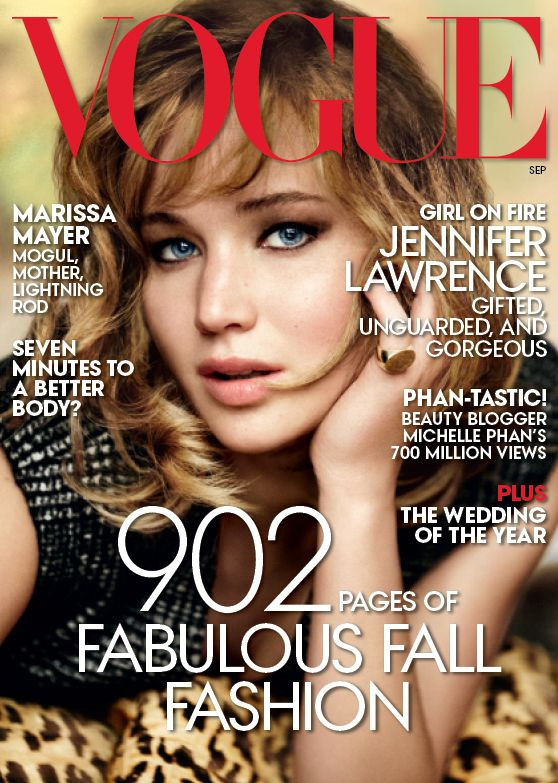 Jennifer Lawrence in 'Vogue' Pictures With Cute Dogs (1)