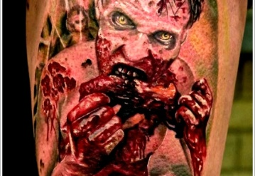 Check Out The Dangerous Zombie Tattoo Designs