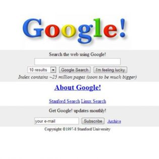 How The World's Popular Websites Looked Like at the Beginning