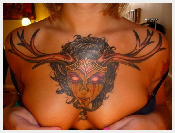 Highly Popular Chest Tattoo Designs Via Public Likes