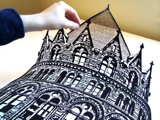 Amazing Paper Art - Black Clippings by Joe Bagley (1)