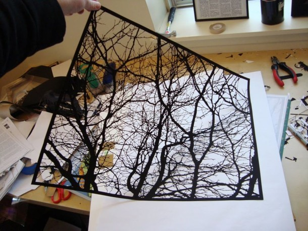 Amazing Paper Art - Black Clippings by Joe Bagley (8)