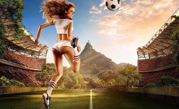 Football and Girls: Erotic calendar Presents The 2014 World Cup (9)