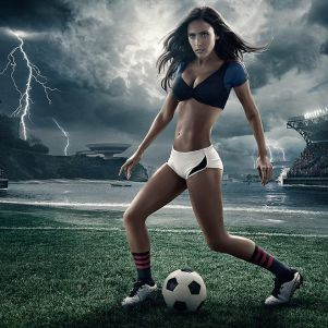 Football and Girls: Erotic calendar Presents The 2014 World Cup