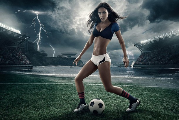 Football and Girls: Erotic calendar Presents The 2014 World Cup (1)
