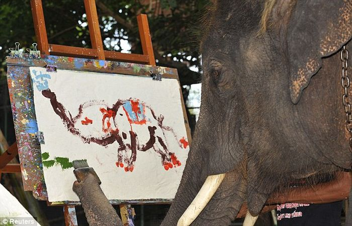 Awesome Impressionist Elephant (1)