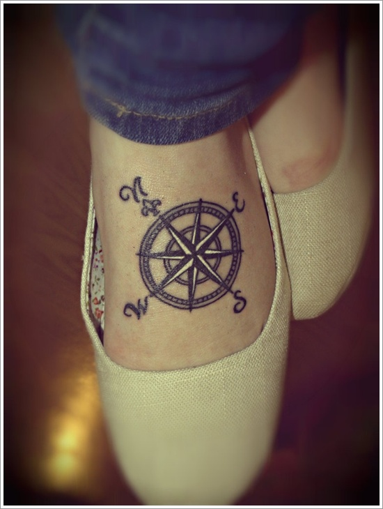 Get Awesome Compass Tattoo Designs (32)