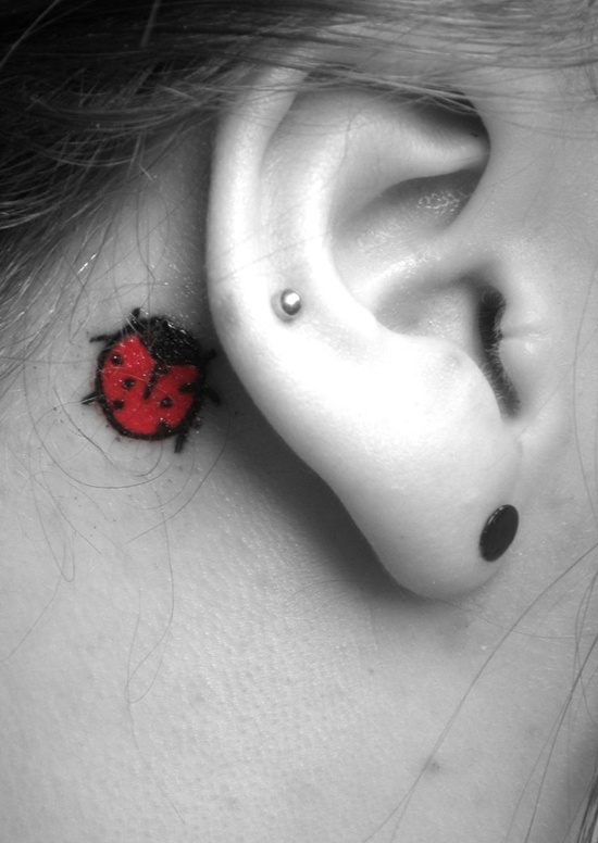 Behind Ear Tattoo Designs (32)