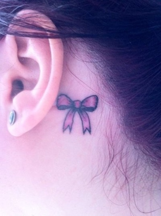 Behind Ear Tattoo Designs (11)
