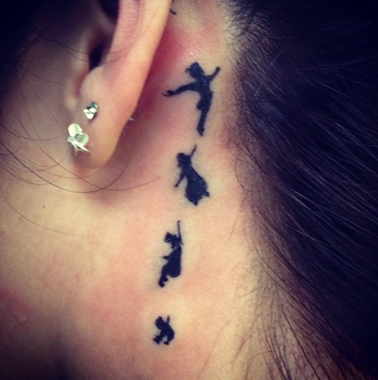 Behind Ear Tattoo Designs