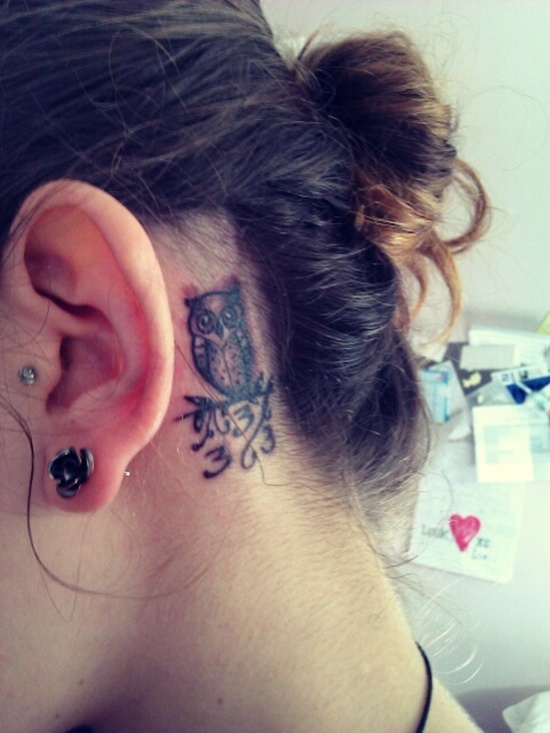 Behind Ear Tattoo Designs (8)