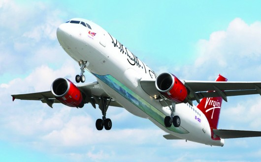 WTF - Virgin Launches Glass-Bottomed Plane (2)
