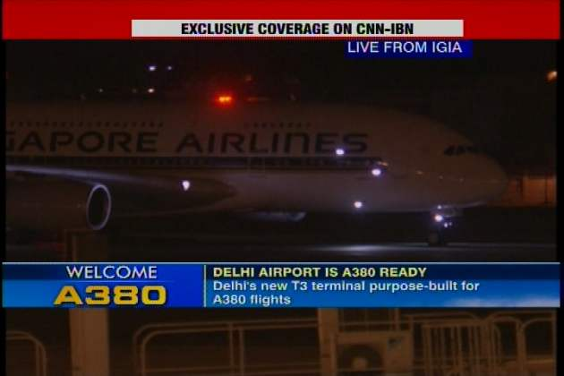 Snapshot: First commercial super jumbo A380 flight lands at Delhi's IGI Airport (4)