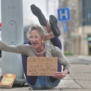 A Playboy Model To Old Age Became a Street Beggar