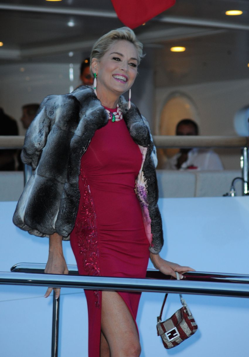Ageless Sharon Stone Hit Cannes  (4)