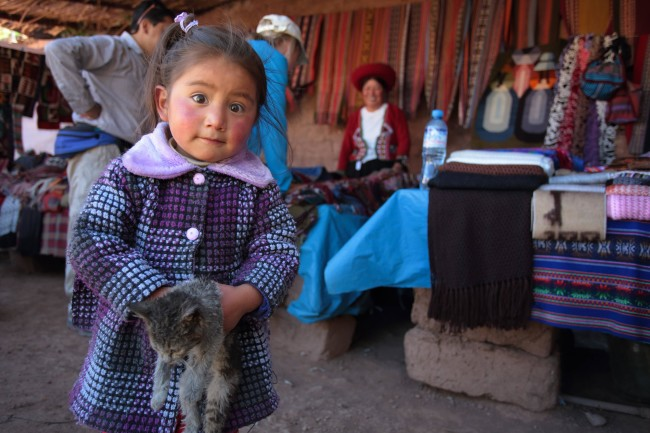 A young Peruvian girl I photographed in a small village