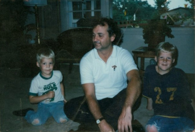 Bill Murray used to babysit my brother and me. Here's a pic of us circa late 1980s