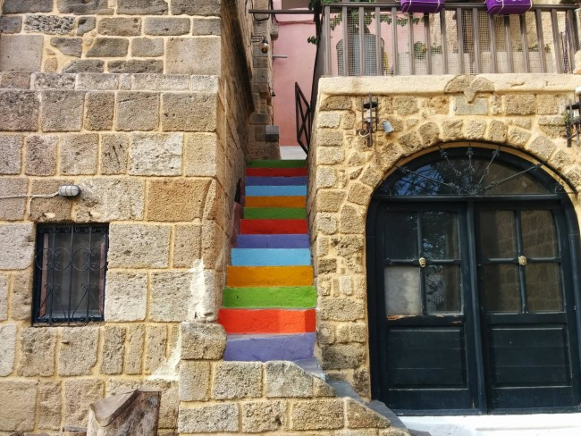 Colorful Stairs in Rhodes, Greece