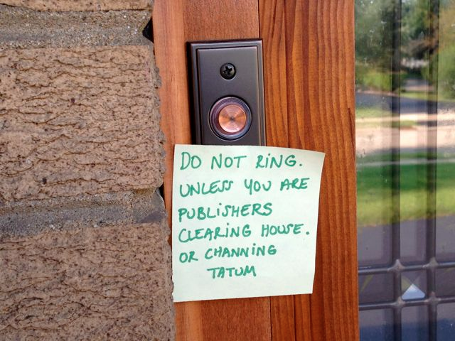 Doorbell notes from moms who just want to be left alone