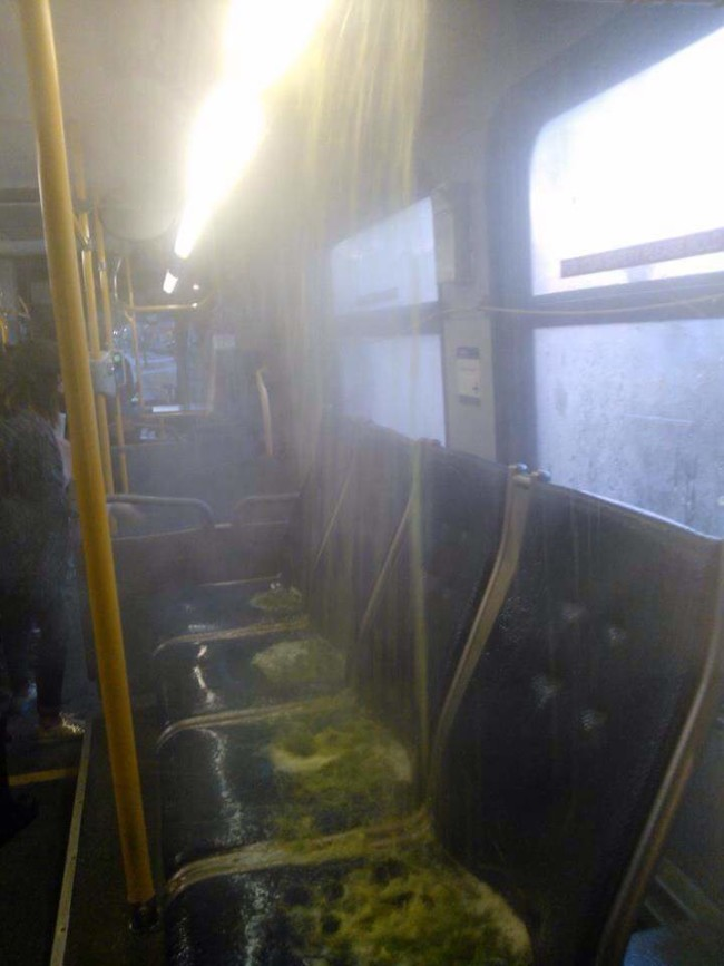 Just a little leak on the bus