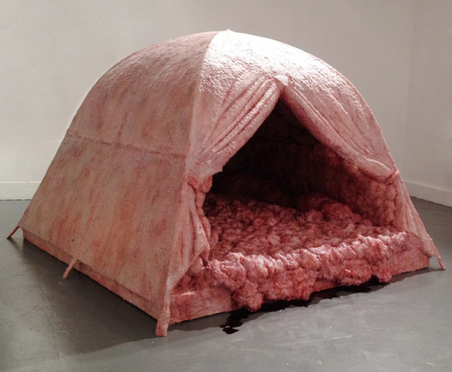 Meat tent.
