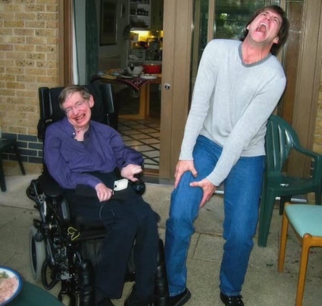 Stephen Hawking meets Jim Carrey
