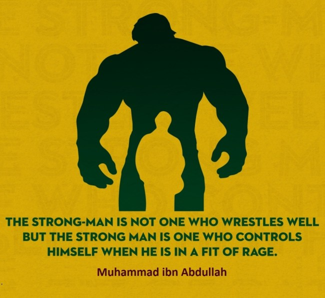 The strongman is not one who wrestles well
