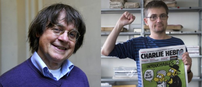 These two cartoonists for French magazine Charle Hebdo were murdered today