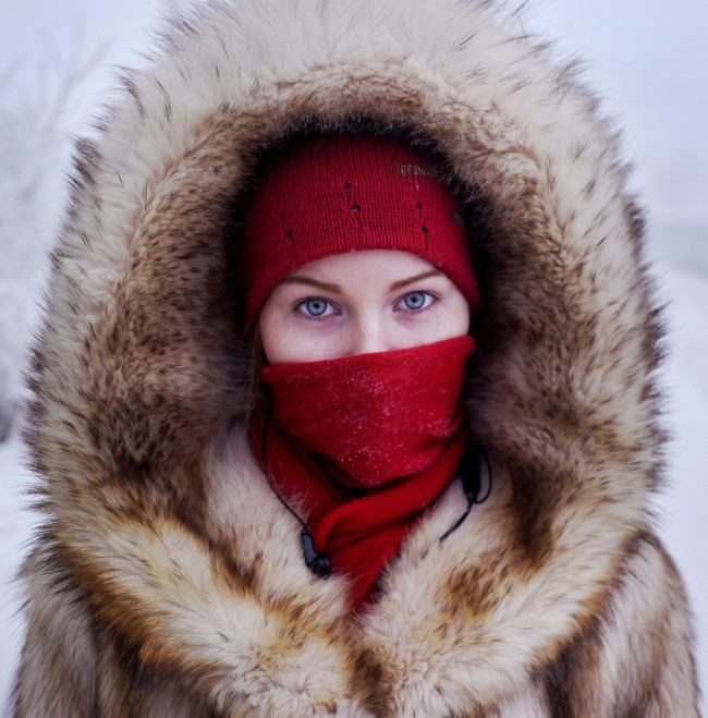 Woman of Oymyakon, the coldest village on Earth