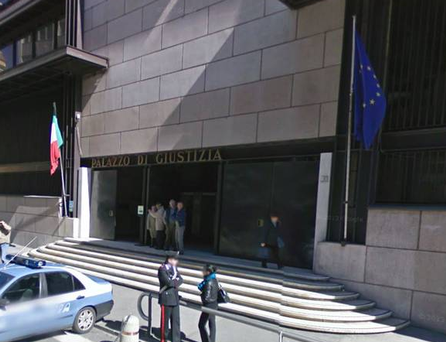 an Italian murder trial was stopped when the judge noticed two members of Court staff having sex.