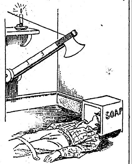 of James Moon, who in 1876 successfully decapitated himself with an auto-guillotine he designed himself
