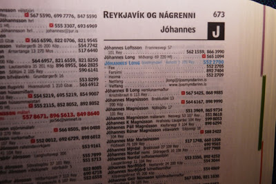 that in Iceland, the phonebook is sorted by first name