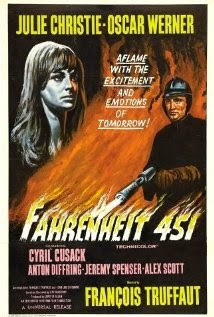 that in the 1966 film adaptation of Fahrenheit 451 the credits are spoken, not read, in keeping with the film's theme of destruction of reading material.
