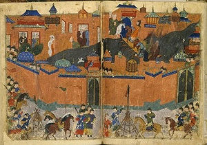 that subsequent to the Fall of Baghdad in 1258, The Great Khan, Hulagu, had to move his camp upwind of the city, due to the stench of decay from the ruined city