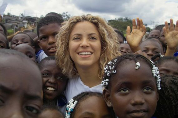 At age 18, following her first successful album, singer Shakira started a charity foundation that to date has built six schools in Colombia