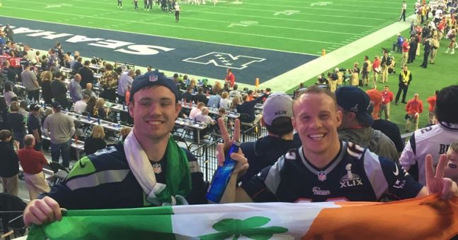 The two Irish lads who managed to sneak into the Superbowl and sit in $50,000 seats for free