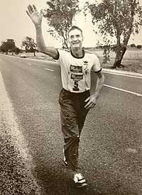 a 61-year-old potato farmer, Cliffy Young, won the Sydney to Melbourne Ultra marathon in 1983. Running 875 kilometres (544 mi), out running world record holders and becoming an Australian icon.