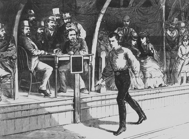 that watching people walk was America's favorite spectator sport in the late 1800's.