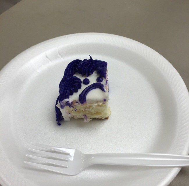 I've never felt so guilty eating a piece of cake...