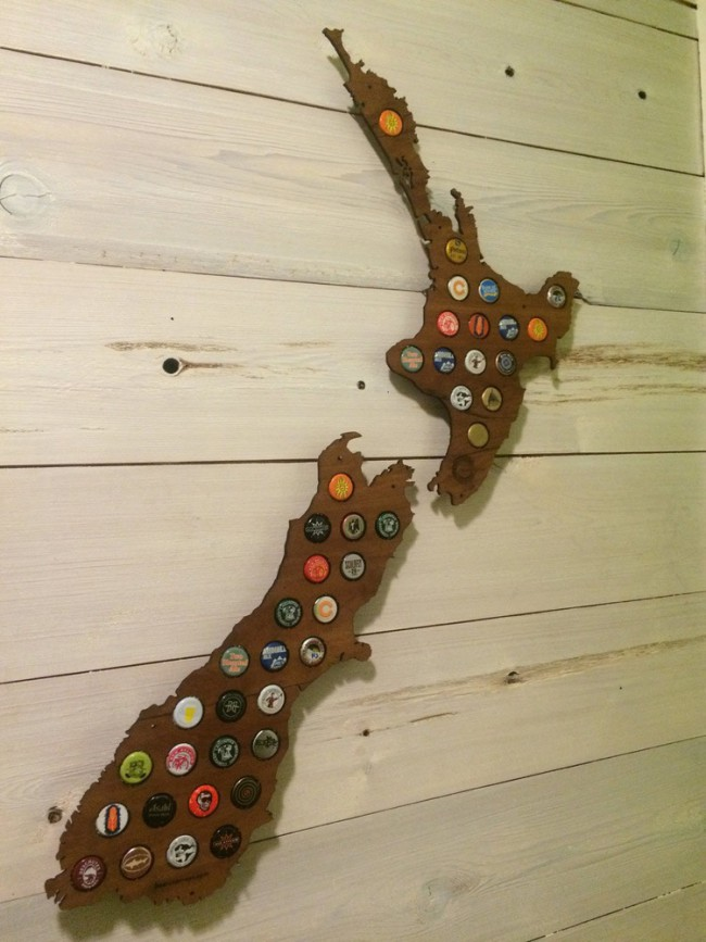 New Zealand Beer Cap Map